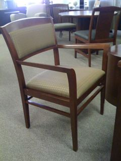 ... Wood Fabric Guest Chair